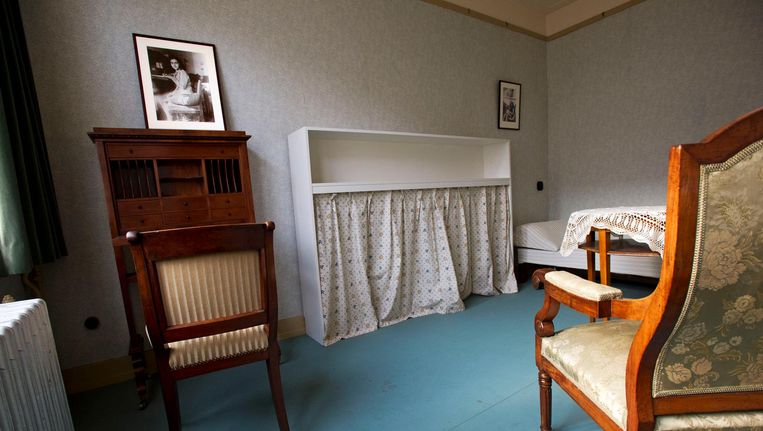 Een van de kamers in de voormalige woning van de familie Frank. Beeld ANP