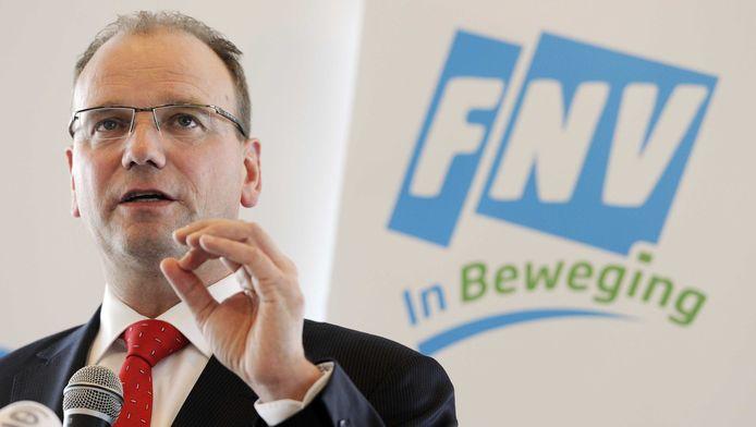 FNV-voorzitter Ton Heerts.