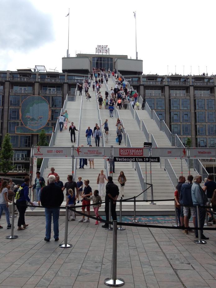 Schijndelaar Winy Maas onderzoekt of De Trap in Rotterdam een permanente plek kan krijgen.