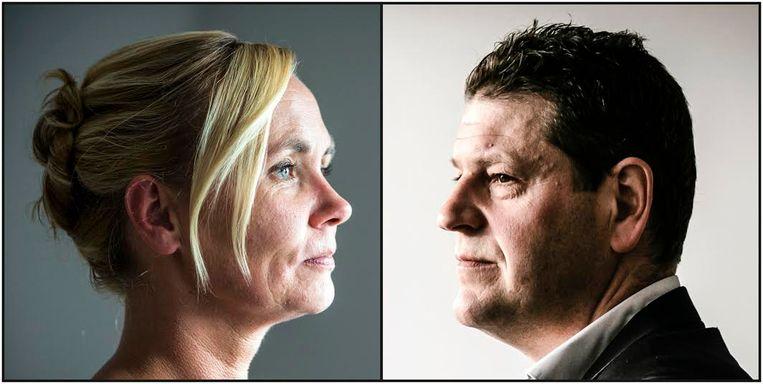 Liesbeth Homans (N-VA) en Tom Meeuws (sp.a). Beeld Dieter Telemans / Wouter Van Vooren
