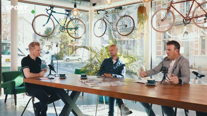 Stijn Vlaeminck, Tom Boonen en Johan Museeuw in de HLN SPORTCAST.