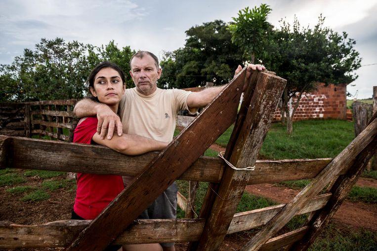 Vanila Alves Valentim en haar man Derli Vieira Roacha. Beeld Leonardo Wen