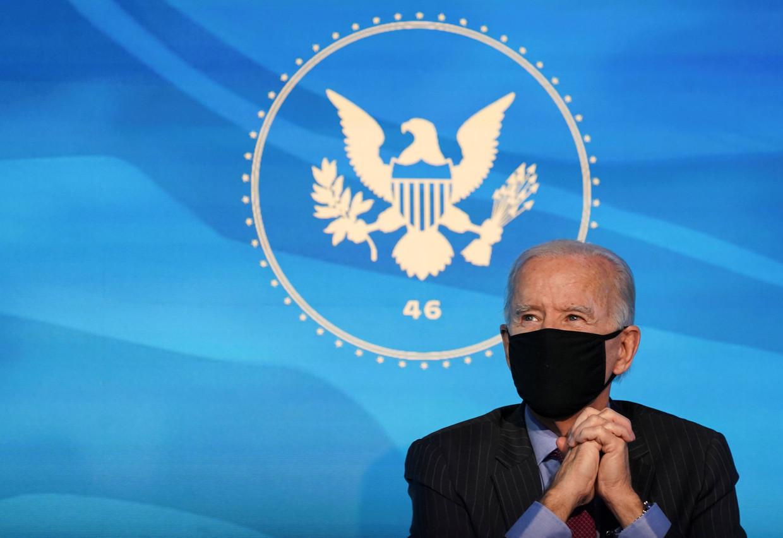 Joe Biden wordt op 20 januari beëdigd als president.  Beeld REUTERS