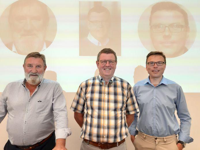 Luc Millecamps, Herman De Vos en Stijn Van de Wiele.