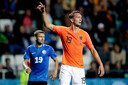 Luuk de Jong houdt voorlopig het vertrouwen van de bondscoach. Tegen Estland mocht hij vorige maand invallen.