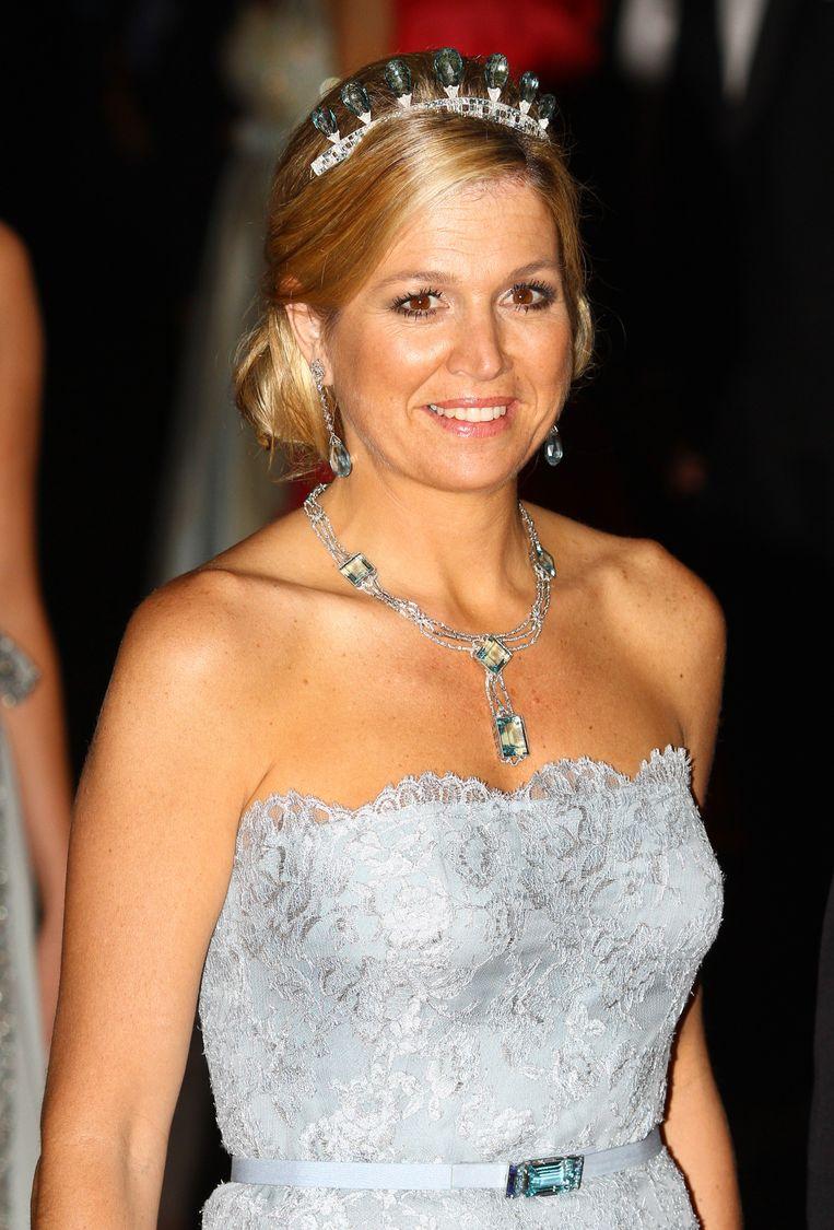 Máxima tijdens het huwelijksdiner in Monaco (2011). Beeld Getty Images