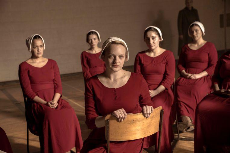 'The Handmaid's Tale', een serie van streamingdienst Hulu..  Beeld AP