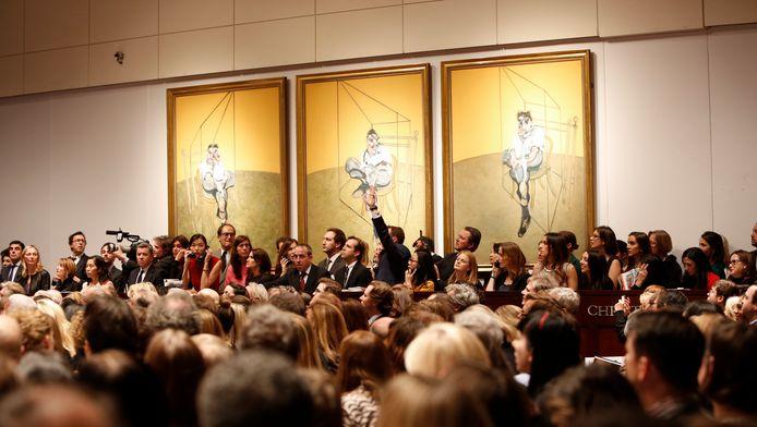 Archiefbeeld uit 2013: werk van Francis Bacon wordt geveild