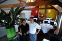 Anita en Peter de l'Ange in 2008 hun restaurant Carpe Diem in Cuijk.