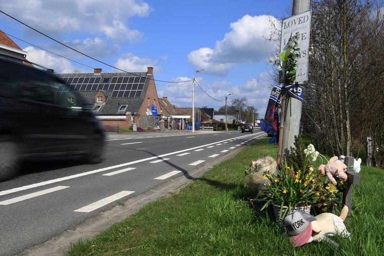 De plaats van het ongeval: de Stationsstraat in Haacht.