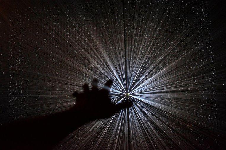 In het Oosterpark is het dit weekend lang licht. Beeld Yasuhiro Chida