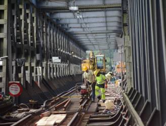 Hinder voor treinverkeer door werken aan spoorbrug over Schelde