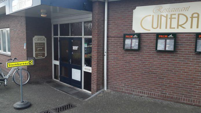Het stembureau aan de Grebbeweg in Rhenen.