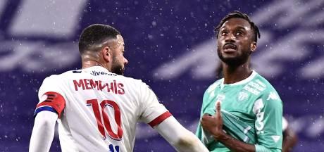 Lyon blijft dankzij goals Memphis meedoen in Franse titelrace