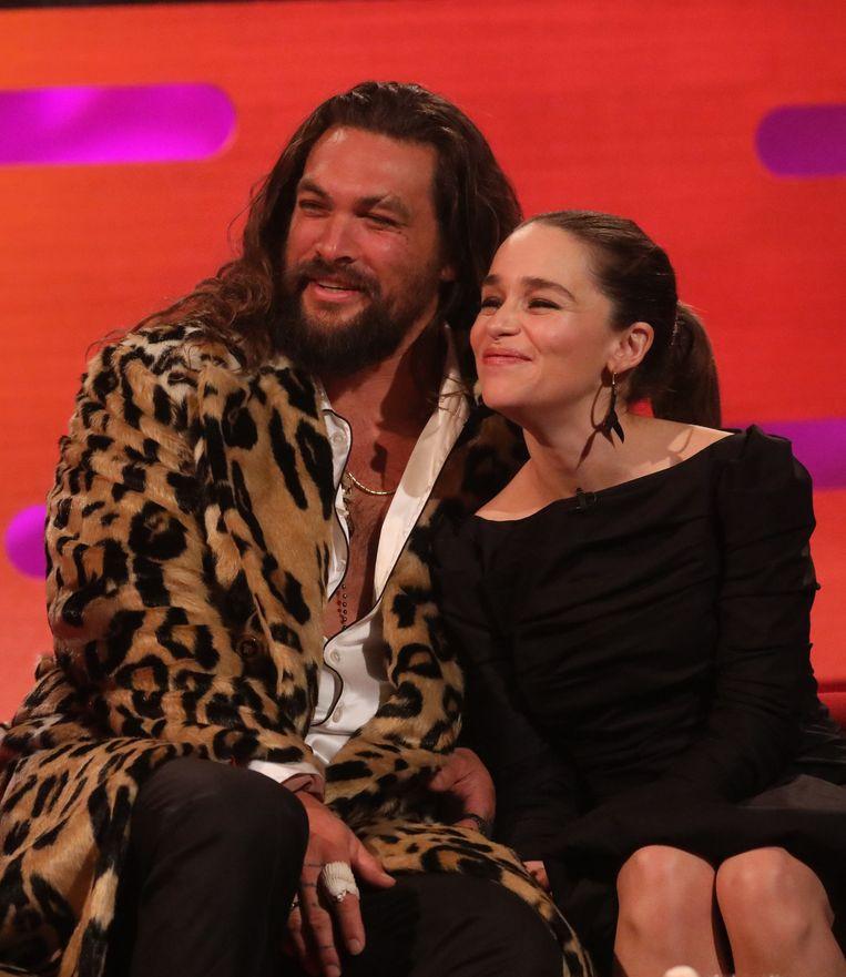 Jason Momoa en Emilia Clarke zijn nog steeds erg goede vrienden