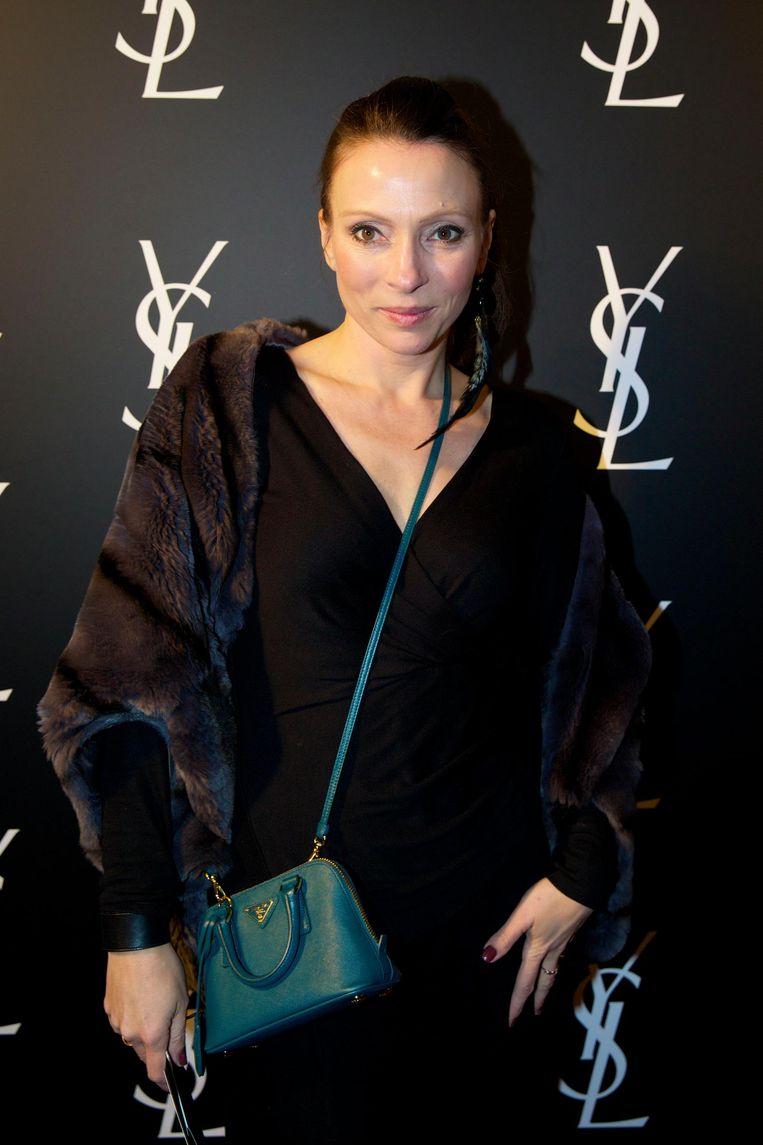 May-Britt Mobach op de première van Yves Saint Laurent, de film over het leven van de Franse modelegende, op 24 maart 2014. Beeld anp