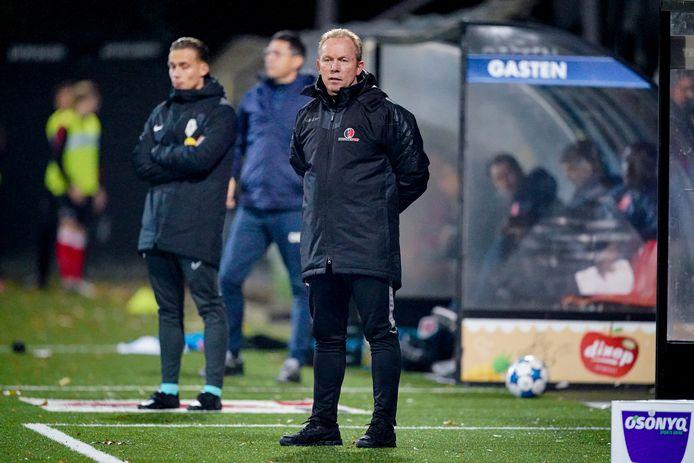 Helmond Sport-trainer Wil Boessen zag zijn ploeg tegen MVV in de extra tijd een voorsprong uit handen geven: 1-1.