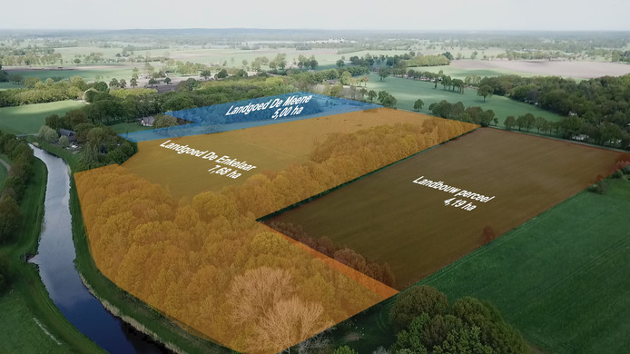 luchtfoto landgoederen markelo