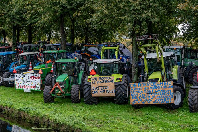 Boerenprotest op het Malieveld in Den Haag