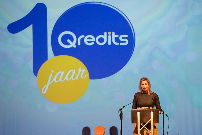 Koningin Maxima vierde vorig jaar met Qredits het 10-jarige bestaan van de verstrekker van microfinanciering.