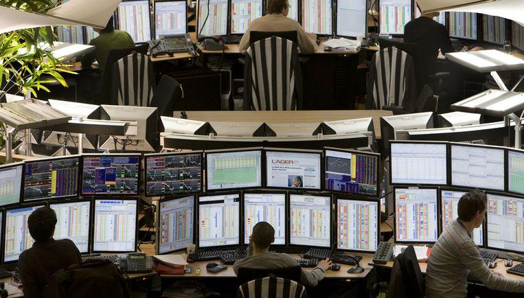 De AEX-index won kort voor het middaguur 0,9 procent, ofwel 2,26 punten, tot 265,74 punten. Foto ANP Beeld