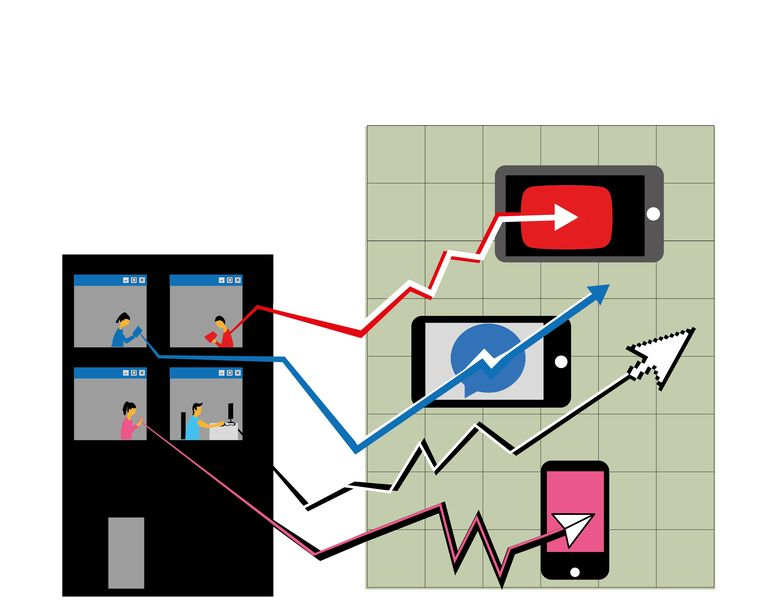 Beleggen als sociale-mediatrend. Beeld Fadi Nadrous
