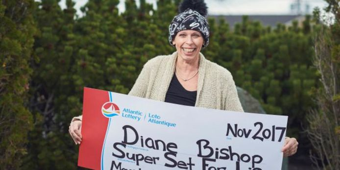 Diane Bishop won 1,5 miljoen Canadese dollar (omgerekend net geen miljoen euro).