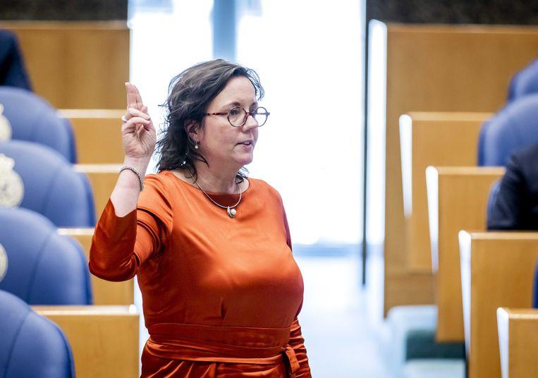 Tamara van Ark (VVD) tijdens de beëdiging als lid van de Tweede Kamer. Beeld ANP