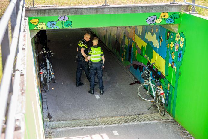 Bij een botsing in een tunnel onder de Coevorderweg raakte een vrouw ernstig gewond.