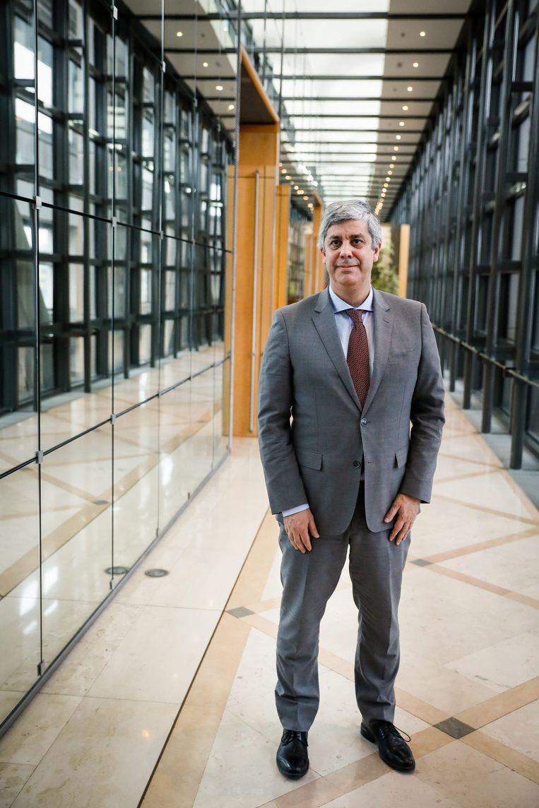 De nieuwe eurogroepvoorzitter Mario Centeno. Beeld BELGAIMAGE