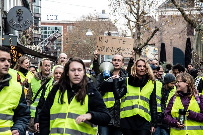 Ook in Nijmegen demonstreerden de gele hesjes.