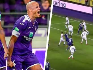 Anderlecht dat rechtstreeks scoort op corner, dat was geleden van... een kopslag van Vincent Kompany
