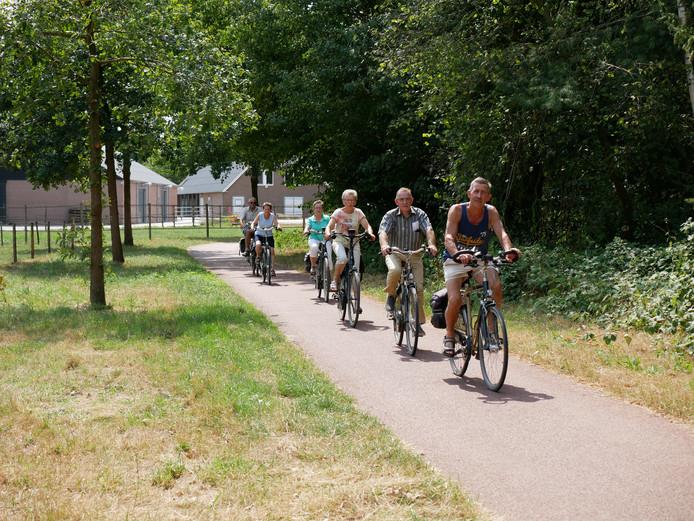 Veel goedgeluimde fietsers in Rucphen
