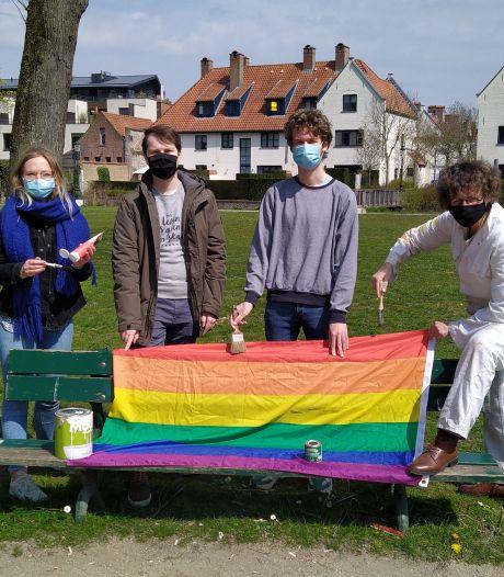 """Groen Brugge wil regenboogbank in het Minnewaterpark: """"Niet voor niets 'Lake of Love'"""""""
