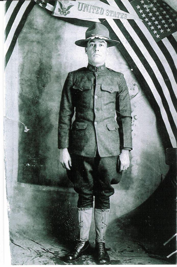 Een Amerikaans soldaat uit WO I.