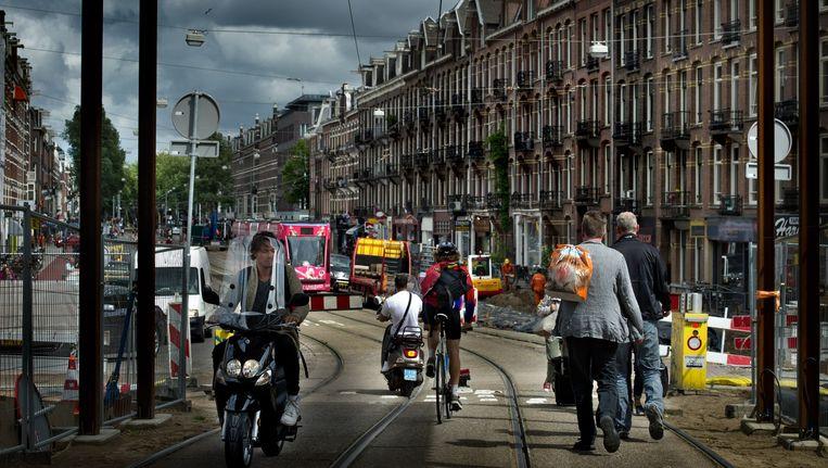 Een Syrische vluchtelinge kreeg binnen zes maanden nadat ze naar Nederland kwam een woning aangeboden op de Ceintuurbaan Beeld Klaas Fopma