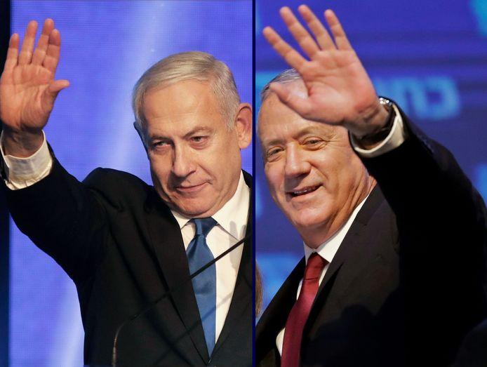 Netanyahu en Gantz.