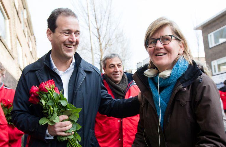 Lodewijk Asscher op campagne. Beeld ANP