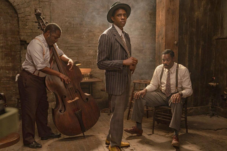 Chadwick Boseman in zijn laatste film, 'Ma Rainey's Black Bottom'. Beeld Photo News