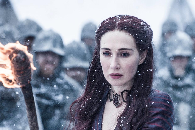 Carice van Houten als priesteres Melisandre in Game of Thrones. Beeld RV