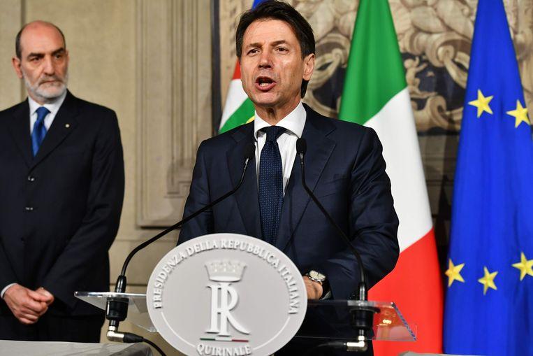 Giuseppe Conte is niet langer kandidaat-premier. Beeld AFP