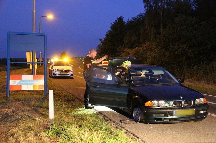 De Politie verricht drie aanhoudingen na ongeval op de A32 bij Steenwijk.