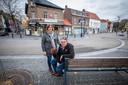 Piet Panis van café Tribunaal en zijn vrouw.