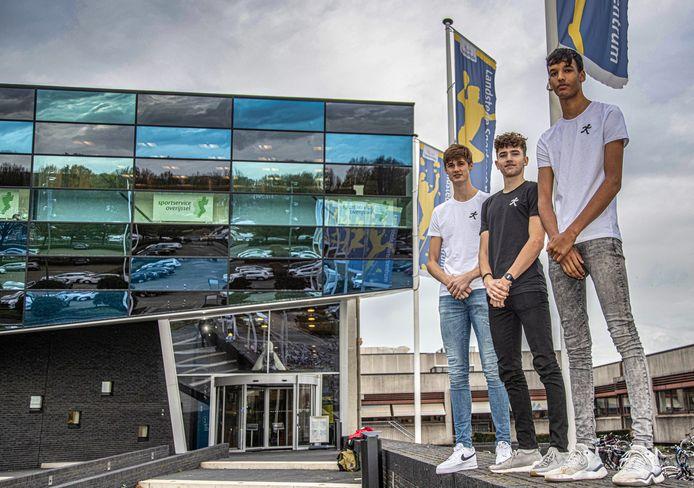DS-2020-6006 Zwolle drie basketballers met een eigen onderneming. Het gaat om Ruben Bos, Don Bouman en Djael Nau.  .FotoPersBuro Frans Paalman Zwolle ©2020