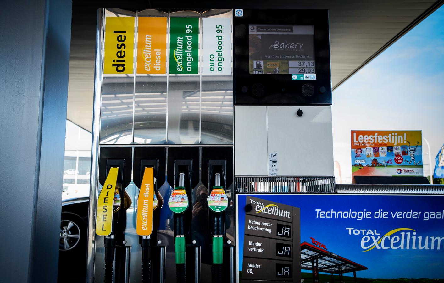De verkoop van 'premium' brandstoffen zoals Total Excellium en Shell V-Power stijgt