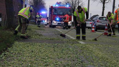 Brandweer ruimt spruitjes die van aanhangwagen zijn gevallen