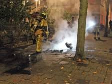 Aangestoken scooter gaat in vlammen op