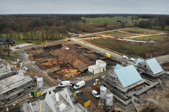 Nieuwebouw in de Bornsche Maten in Borne, een van de grootste nieuwbouwijken in deze regio.