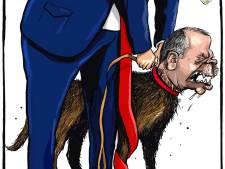Erdogan niet blij met Nederlandse spotprenten