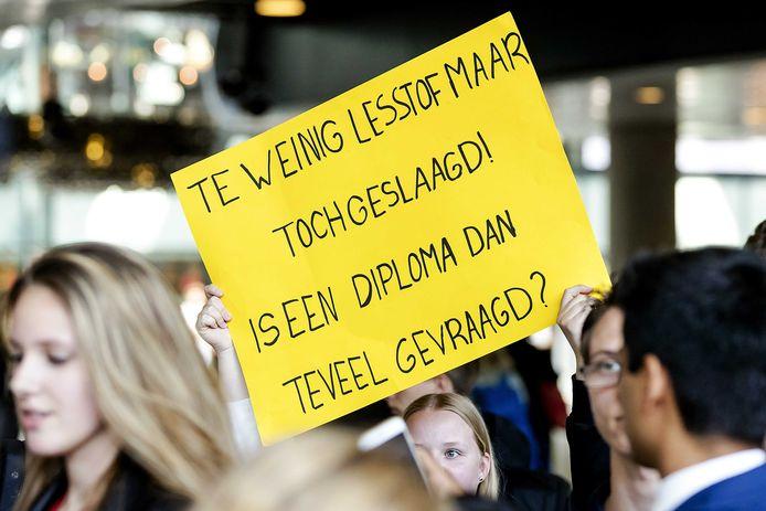 Boze leerlingen van het VMBO Maastricht.